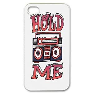 IPhone 4/4s Cases Antislip Typography Hold Me, Funny Saying Iphone 4s Cases For Teen Girls [White] by ruishername