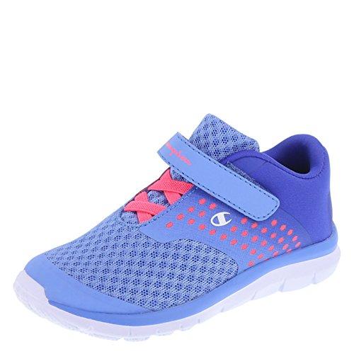 Champion Girls' Blue Coral Girls' Toddler Strap Gusto Cross Trainer 12 Regular