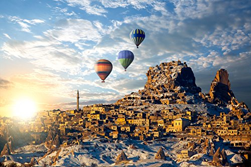 Jigsaw Puzzles Wooden For Adults 1000 Piece Travel of Hot Air Balloon