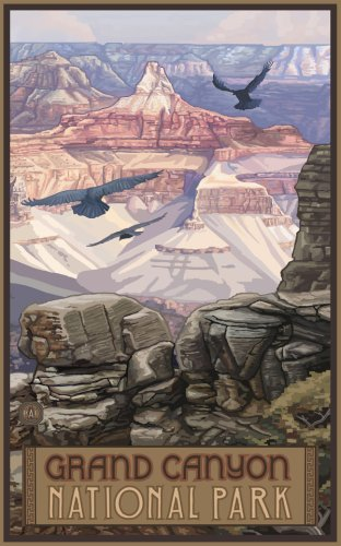 Northwest Art Mall 11' x 17' Poster Grand Canyon View by Paul A. Lanquist