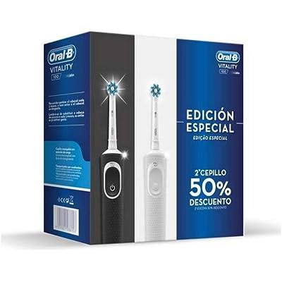 Oral B - Oral-B Vitality 100 Edición Especial Pack 2 Cepillos Blanco/Negro