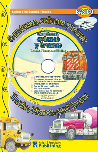 Read Online Camiones, aviones y trenes / Trucks, Planes, and Trains Spanish-English Reader With CD (Dual Language Readers) (English and Spanish Edition) PDF