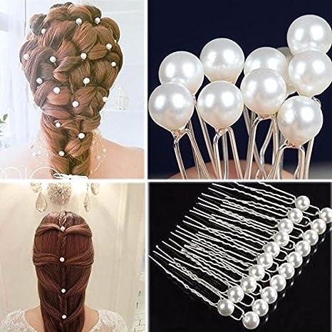 20 Forcine spilloni perle forcina fermaglio accessori capelli acconciatura  sposa e9b003449e48