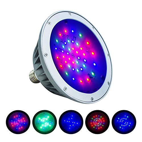 Britelumen LED Pool Light, 120V 40W Color Changing Bulb, IP65 Waterproof, Replacement for Pentair Fixtures(120V-RGB) ()