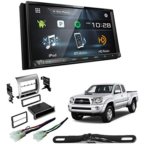 - DDX775BH DVD/CD Player Android iPhone Pandora Bluetooth HD Radio WebLink W/Toyota Tacoma Double Din Car Stereo Radio Installation Dash Mount Kit Harrness + CAM-600 License Plate Rear View Camera