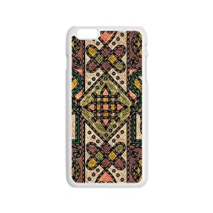 Classic Flowerr Fabric Totem Pattern Custom Protective Hard Phone Cae For Iphone 6