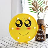 Dunnomart 3D Wall Lamp Cute Emoji Night Lighting