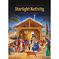 Babalu Christmas 3-D Advent Calendar - Starlight Nativity - 24 Hidden Doors and Surprises for The Countdown to Christmas