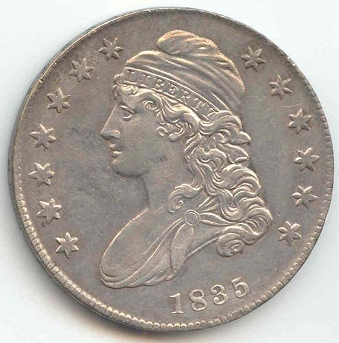 1835 Capped Bust Half Dollar About Uncirculated Details