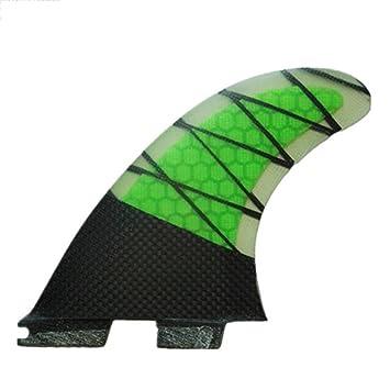 YQ Surf Fins Compatible Plantilla G5 Fibra De Vidrio Y Material De Carbono Juego De Aletas