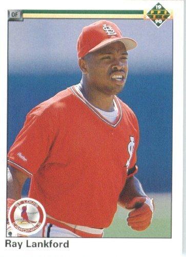 1990 Upper Deck # 755 Ray Lankford St. Louis Cardinals - MLB Baseball Trading Card