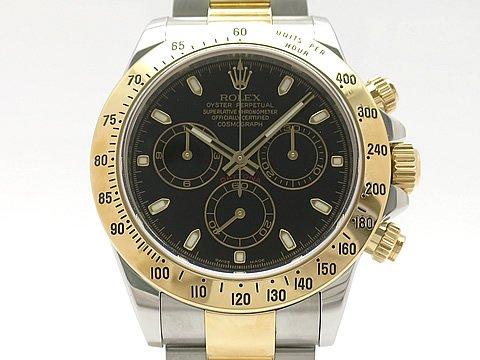 (ロレックス) ROLEX 腕時計 デイトナ 新型バックル メーカーOH済(保証期間中) 116523(V) K18YG/SS 中古 B07DN5234R