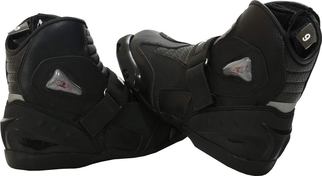 Botas Cortas de Piel para Motocicleta Impermeables Color Negro RTX Dyno Tex
