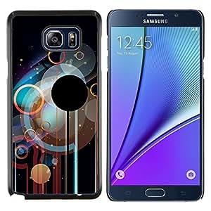 LECELL--Funda protectora / Cubierta / Piel For Samsung Galaxy Note 5 5th N9200 -- Círculos Disco --