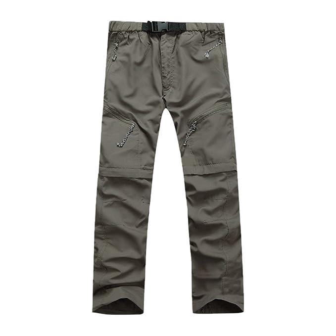 Pantalones Deportivos Hombre Largos ♚ Absolute Pantalones Desmontables Pantalones de Escalada Hombre Pantalones de Secado rápido Pantalones Casuales 4 ...
