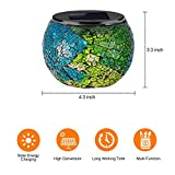 Solar Glass Ball Table Lamp Mosaic Lights 2 Pack Waterproof Night Light for Home, Garden, Patio Decoration,Ideal Gifts