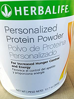 Herbalife Personalized Protein Powder 12.7 Oz (360g), Natural Unflavored Appetite Suppressant and Weight Loss Supplement, Natural Dietary Supplement , Vegetarian Slimming Fat Binder, for Weight Gain / Weight Loss / Weight Management Leading to Blood Press