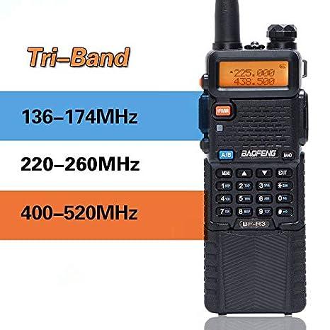 Amazon com: BaoFeng BF-R3 Tri-Band 136-174/220-260/400