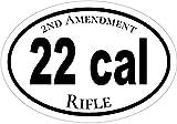 Oval 22 Cal Vinyl Decal - 2nd Amendment Bumper