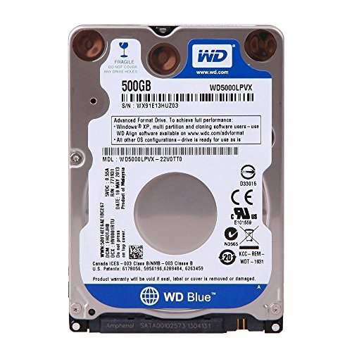 WESTERN DIGITAL WD5000LPVX Scorpio Blue 500GB 5400 RPM 8MB cache SATA 6.0Gb/s 2.5' 7mm internal notebook hard drive Bare Drive