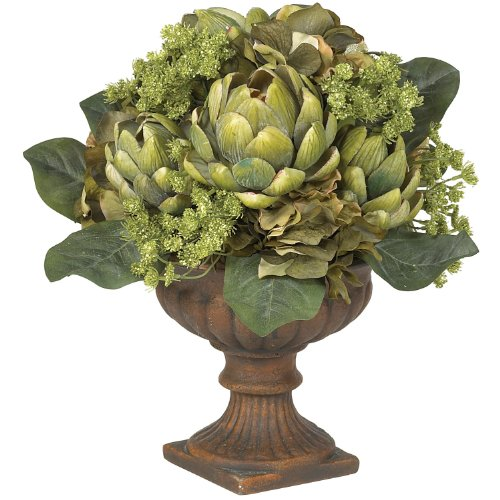 Artichoke Centerpiece Silk Flower Arrangement by Generic