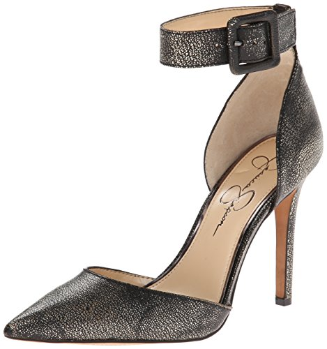 Jessica Simpson Women's Cayna, Black/Gunmetal, 6.5 M US