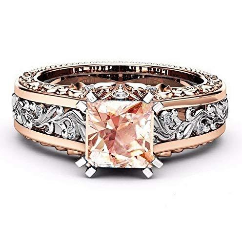 Tomikko 18K Rose Gold Fil Pink Sapphire Woman Wedding Party Ring Gift Size 6-10 | Model RNG - 13797 | 8