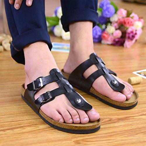 de Plage Tongs Sandales Confortable Adulte Chaussures Mixte Noir Femme Homme 8pffxvw0rq