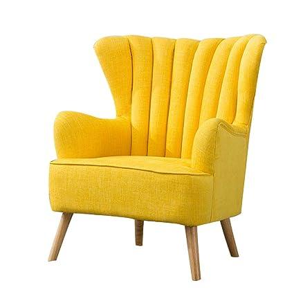 HTOLLA Sillón Moderno de Tela, Wing Back Chair Sofá Lounge ...