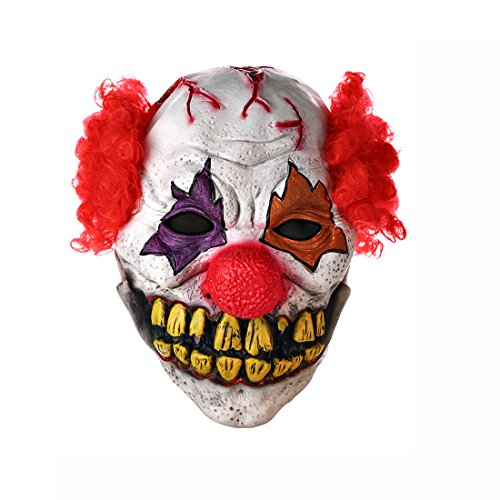 Clown Mask Circus Scary Killer Halloween Horror Latex Full Head Fancy Dress (It The Killer Clown Costume)