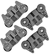 W10195416V W10195416 Dishwasher Wheels Lower Dish Rack Wheel with Steel Screws by AMI, Replaces W...