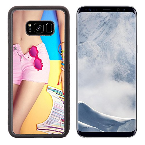 Luxlady Samsung Galaxy S8 Plus S8+ Aluminum Backplate Bumper Snap Case IMAGE ID: 43327383 Sexy woman body in fashionable shorts with sunglasses Handmade bracelets Set stylish - In Sunglasses Magazine A Lady The