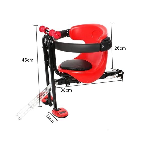 YXZN Asiento Infantil De La Bicicleta Asientos Delanteros De Seguridad del Bebé Ajustable Dos Puntos Fijos,Green,45X38CM: Amazon.es: Deportes y aire libre