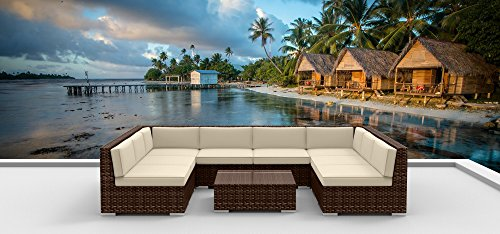 Urban Furnishing.net – Brown Series 9b Modern Outdoor Backyard Wicker Rattan Patio Furniture Sofa Sectional Couch Set