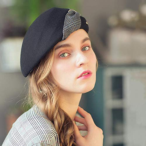 Pequeño Mujeres Painter Otoño Colores Hat Travel 3 Negro Fashion Top Boinas Beanie Girls Invierno Hat Red color Cálido Primavera pqxpBw