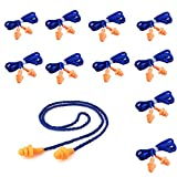 50 pairs Soft Silicone Corded Ear Plugs Reusable Hearing Protection Earplugs For Sleeping, Concerts, Music, Shooting , Construction Work, Motor Sports Racing