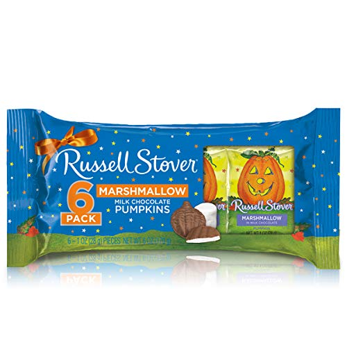Russell Stover Marshmallow Pumpkins 6-Pack, 1 oz. Bars