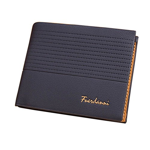 Stylish Men Bifold Wallet with RFID Blocking Slim Minimalist Front Pocket ()