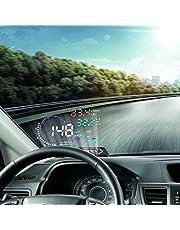 VGEBY A8 5.5'' OBD II Car HUD Head Up Display Auto Windshied Reflective Screen Speed Display