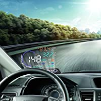 VGEBY A8 5.5 OBD II Car HUD Head Up Display Auto Windshied Reflective Screen Speed Display