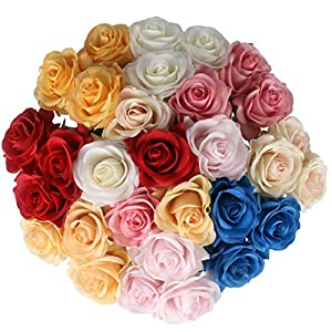 JAROWN 10 pcs Real Touch Flowers Artificial Roses Moisturizing Bouquets for Home Wedding Decoration 77