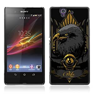 Designer Depo Hard Protection Case for Sony Xperia Z L36H / Cool Gold Eagle wangjiang maoyi