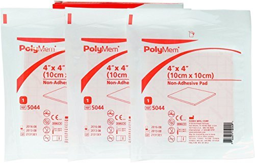 Polymem 4 x 4 Non-Adhesive Pad (Pack of 3) Wound Dressing by Ferris