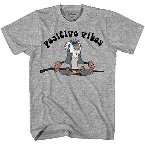 (Disney Lion King Rafiki Positive Vibes Men's T-Shirt (Black,XXL))