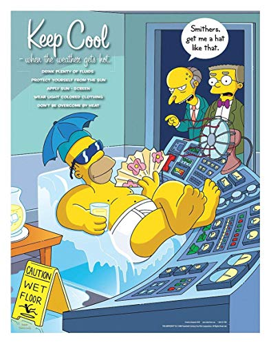 Safetyposter.Com S1103 - Simpsons Safety Poster Keep Cool ENG