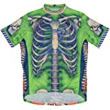 Primal Wear Bone Collector Skeleton Cycling Jersey Men's Short Sleeve Limited Edition Green