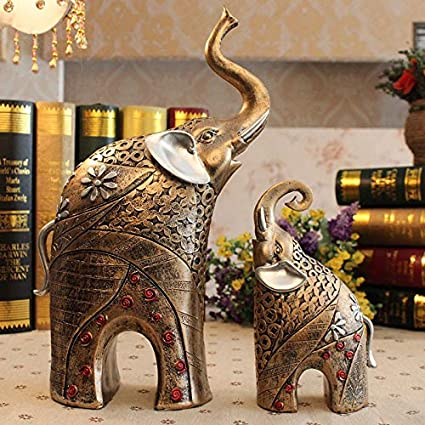 Amazon.com: WHXYAA Home Accessories Home Improvement Elephant Living ...