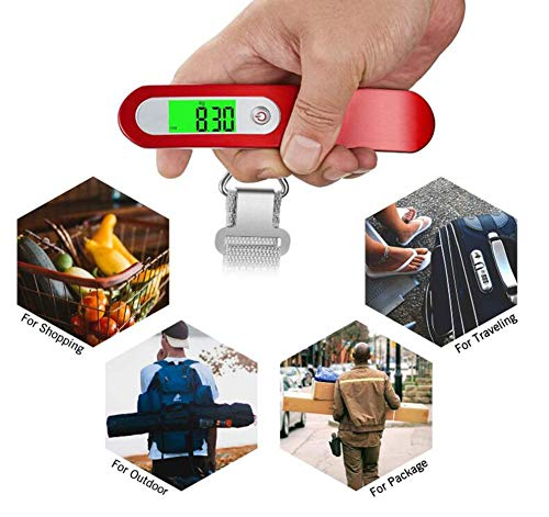 GXF Small Electronic Scale Mini Baggage Portable Portable Scale Home Travel Hanging Scale Backlit Liquid Crystal Display by GXF (Image #5)