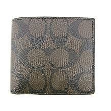 Coach Signature PVC Double Bill Wallet Mahogany/Brown F75083