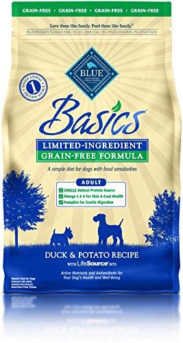 BLUE Basics Limited Ingredient Diet Adult Grain Free Duck & Potato Dry Dog Food 4-lb